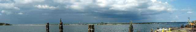 Panoramic view from Dauphin Island Ferry terminal